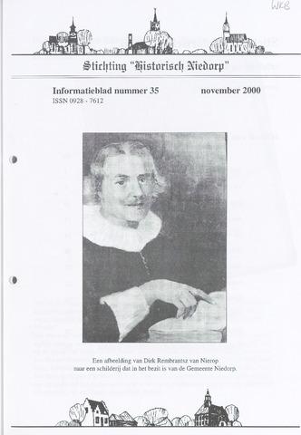 Informatieblad stichting Historisch Niedorp 2000-11-01