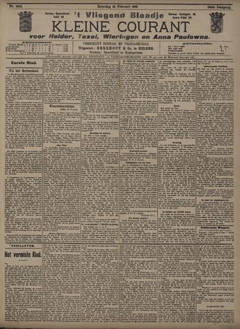 Vliegend blaadje : nieuws- en advertentiebode voor Den Helder 1908-02-29