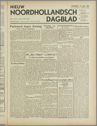 Nieuw Noordhollandsch Dagblad : voor Alkmaar en omgeving 1945-07-18
