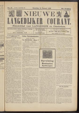 Nieuwe Langedijker Courant 1925-01-24