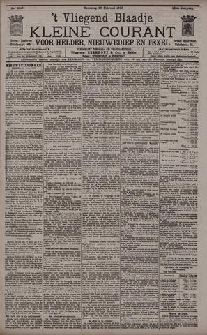 Vliegend blaadje : nieuws- en advertentiebode voor Den Helder 1895-02-20