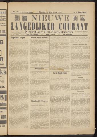 Nieuwe Langedijker Courant 1928-08-14