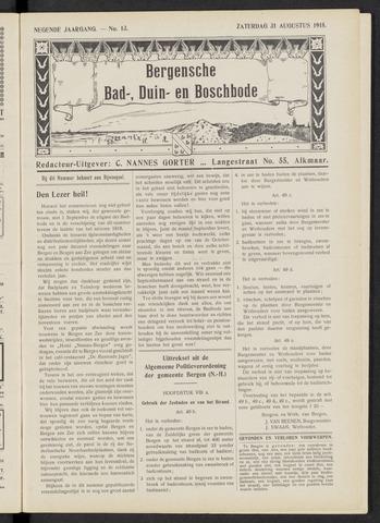 Bergensche bad-, duin- en boschbode 1918-08-31
