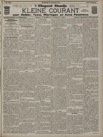 Vliegend blaadje : nieuws- en advertentiebode voor Den Helder 1910-08-24
