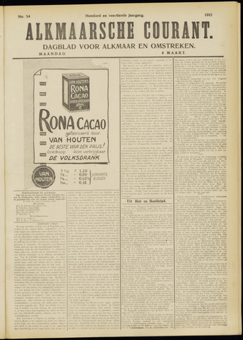 Alkmaarsche Courant 1912-03-04