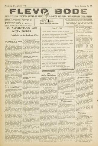 Flevo-bode: nieuwsblad voor Wieringen-Wieringermeer 1946-08-21