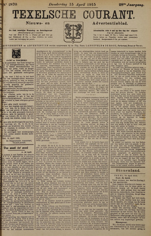Texelsche Courant 1915-04-15