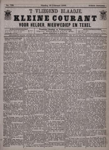 Vliegend blaadje : nieuws- en advertentiebode voor Den Helder 1880-02-10