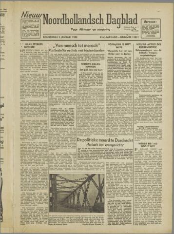 Nieuw Noordhollandsch Dagblad : voor Alkmaar en omgeving 1946-01-03