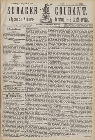 Schager Courant 1920-08-17