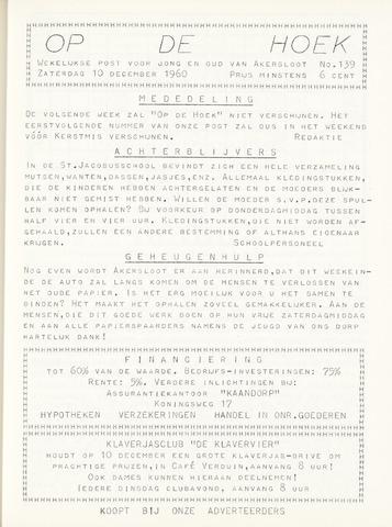 Op De Hoek, weekblad voor Akersloot 1960-12-10