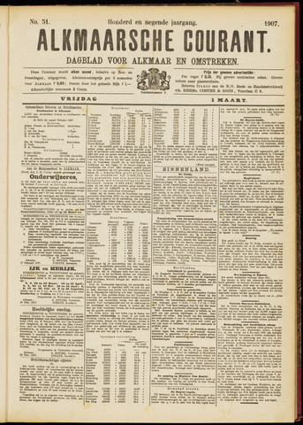 Alkmaarsche Courant 1907-03-01