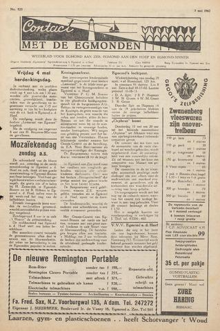 Contact met de Egmonden 1962-05-03