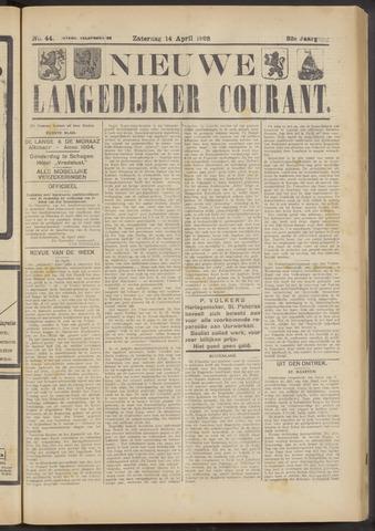 Nieuwe Langedijker Courant 1923-04-14