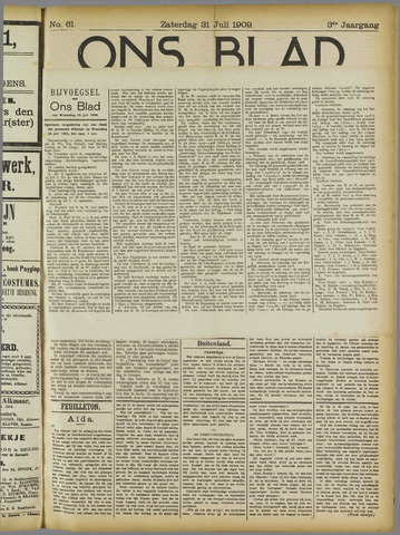 Ons Blad : katholiek nieuwsblad voor N-H 1909-07-31