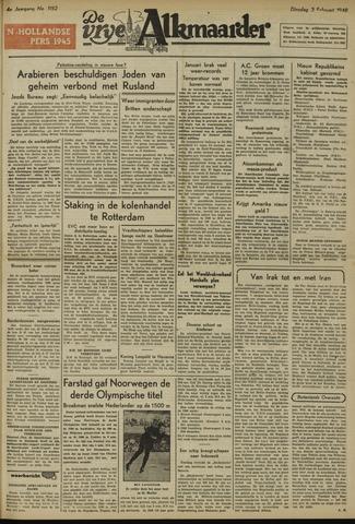 De Vrije Alkmaarder 1948-02-03
