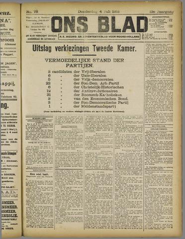 Ons Blad : katholiek nieuwsblad voor N-H 1918-07-04