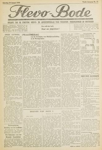 Flevo-bode: nieuwsblad voor Wieringen-Wieringermeer 1949-01-29