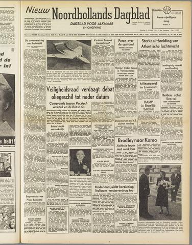 Nieuw Noordhollandsch Dagblad : voor Alkmaar en omgeving 1951-10-02