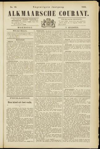 Alkmaarsche Courant 1888-08-01