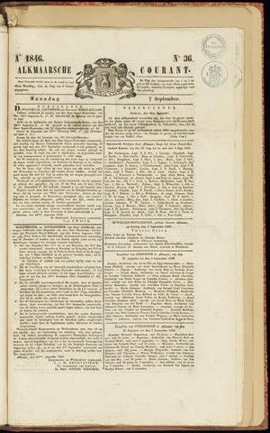 Alkmaarsche Courant 1846-09-07