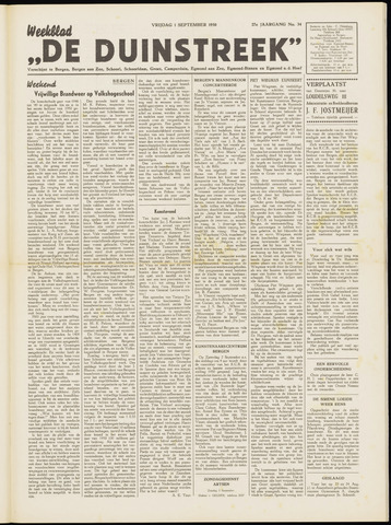 De Duinstreek 1950-09-01