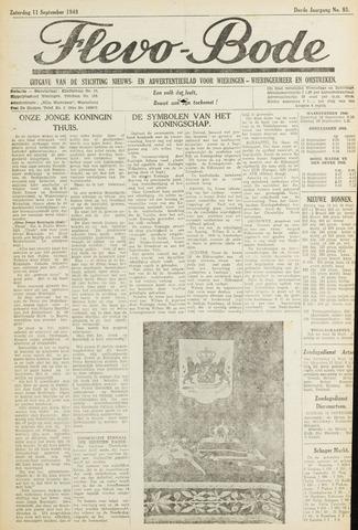 Flevo-bode: nieuwsblad voor Wieringen-Wieringermeer 1948-09-11