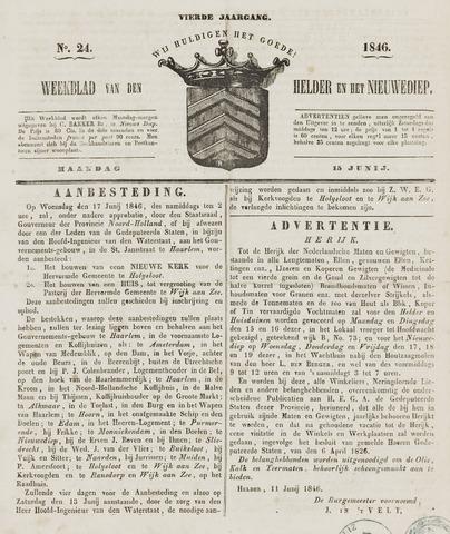 Weekblad van Den Helder en het Nieuwediep 1846-06-15