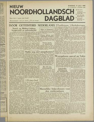 Nieuw Noordhollandsch Dagblad : voor Alkmaar en omgeving 1945-07-17
