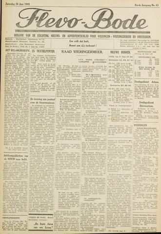 Flevo-bode: nieuwsblad voor Wieringen-Wieringermeer 1948-06-26