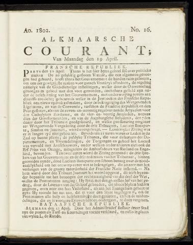 Alkmaarsche Courant 1802-04-19
