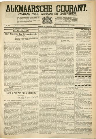 Alkmaarsche Courant 1933-09-26