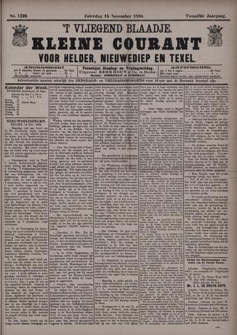 Vliegend blaadje : nieuws- en advertentiebode voor Den Helder 1884-11-15