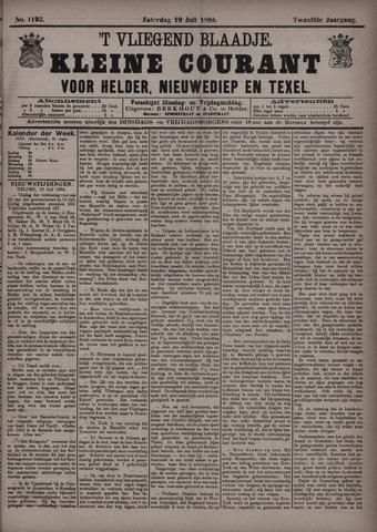 Vliegend blaadje : nieuws- en advertentiebode voor Den Helder 1884-07-19