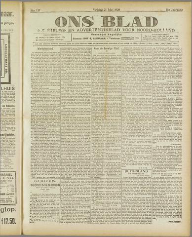Ons Blad : katholiek nieuwsblad voor N-H 1920-05-21