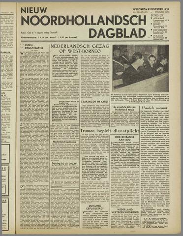 Nieuw Noordhollandsch Dagblad : voor Alkmaar en omgeving 1945-10-24