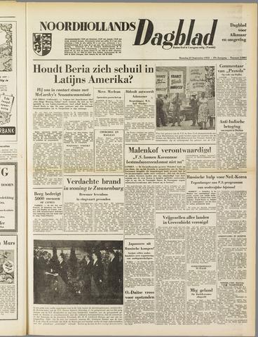 Noordhollands Dagblad : dagblad voor Alkmaar en omgeving 1953-09-21