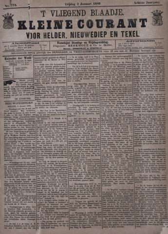Vliegend blaadje : nieuws- en advertentiebode voor Den Helder 1880-01-02