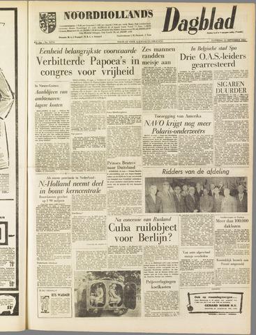 Noordhollands Dagblad : dagblad voor Alkmaar en omgeving 1962-09-15