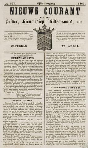 Nieuwe Courant van Den Helder 1865-04-22
