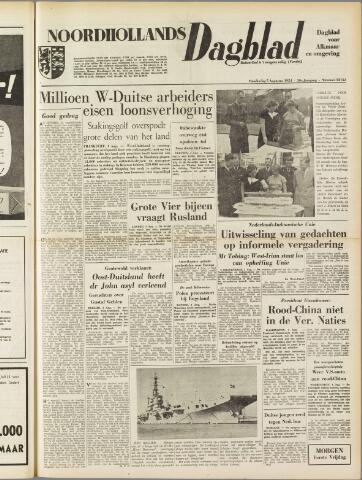 Noordhollands Dagblad : dagblad voor Alkmaar en omgeving 1954-08-05