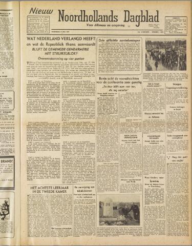 Nieuw Noordhollandsch Dagblad : voor Alkmaar en omgeving 1947-07-09