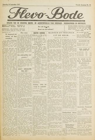 Flevo-bode: nieuwsblad voor Wieringen-Wieringermeer 1947-09-20
