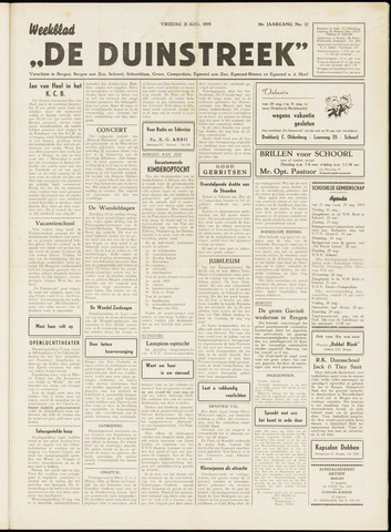 De Duinstreek 1959-08-21