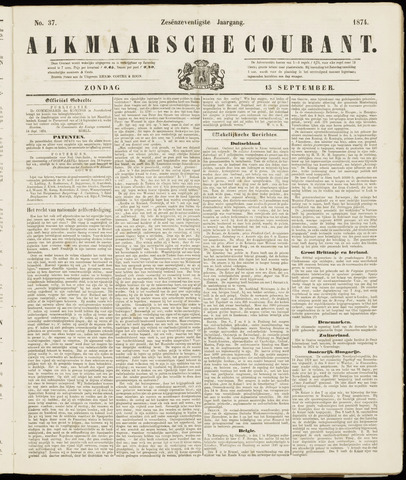 Alkmaarsche Courant 1874-09-13