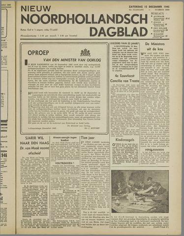 Nieuw Noordhollandsch Dagblad : voor Alkmaar en omgeving 1945-12-15