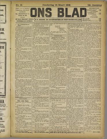 Ons Blad : katholiek nieuwsblad voor N-H 1918-03-14