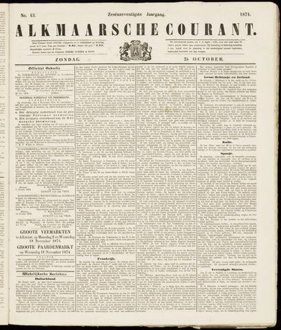 Alkmaarsche Courant 1874-10-25
