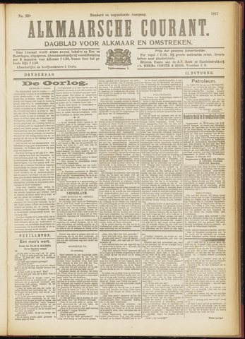 Alkmaarsche Courant 1917-10-11