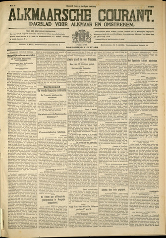 Alkmaarsche Courant 1930-01-02